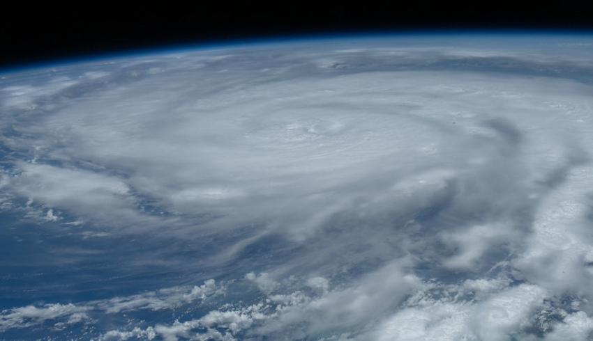 Hurricane Ida captured by the ISS
