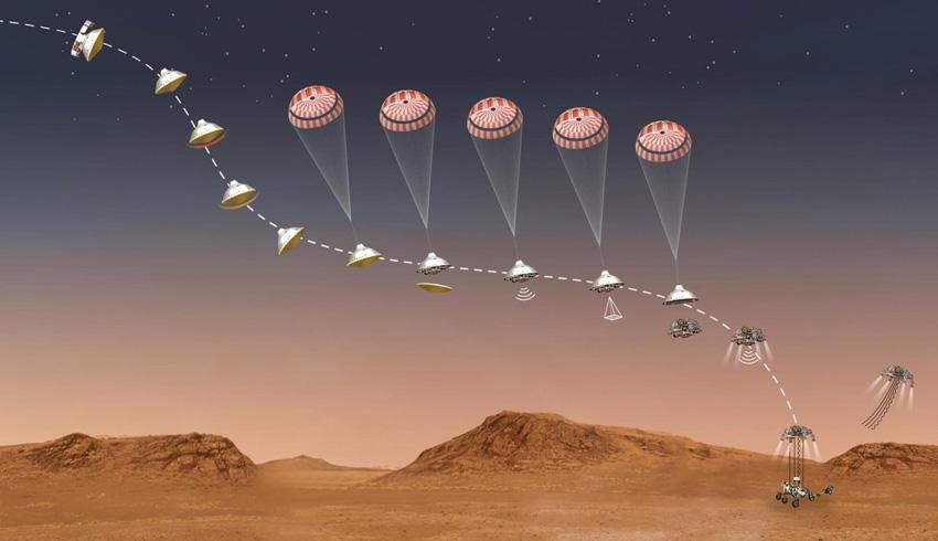 Perseverance rover nears Mars landing