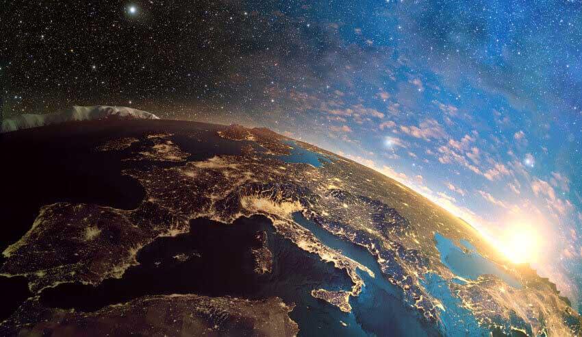 Earth space galaxy